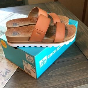 Reef cork & leather sandals